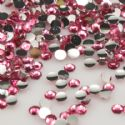 Jewel Embellishments, Resin, Pinkish red, Faceted Discs, 3mm x 3mm x 1mm, 300  pieces, [ZSS028]